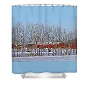 Winter Tree Line Shower Curtain