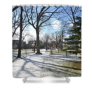 Winter Tree Shadows Shower Curtain