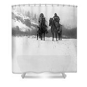 Winter Trek   1908 Shower Curtain