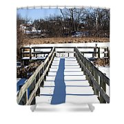 Winter Walkway Shower Curtain