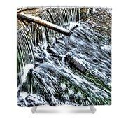 Winter Waterfall 2 Shower Curtain