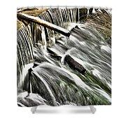 Winter Waterfall Shower Curtain