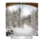Winter Welcome Shower Curtain