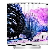 Winter Whimsey  Shower Curtain