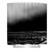 Winter Winds Bw Shower Curtain