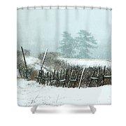 Winter Wonderland - Amazing Winter Landscape With Snow Falling Shower Curtain