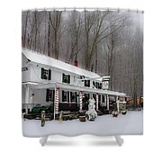 Winter Wonderland At The Valley Green Inn Shower Curtain