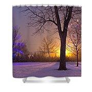 Winter Wonderland - Holiday Square - Casper Wyoming Shower Curtain