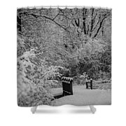 Winter Wonderland Shower Curtain by Sebastian Musial