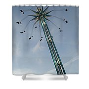 Winter Wonderland Star Flyer Shower Curtain