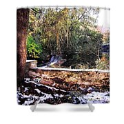Winter Woods With Melting Snow Shower Curtain