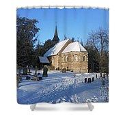 Winter Worship Shower Curtain