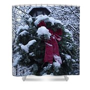 Winter Wreath Shower Curtain