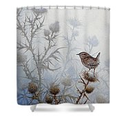 Winter Wren Shower Curtain