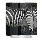 Winter Zebras Shower Curtain