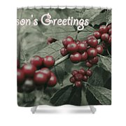 Winterberry Greetings Shower Curtain