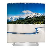 Winters Calm Shower Curtain