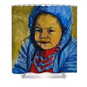 Winter's Child Shower Curtain