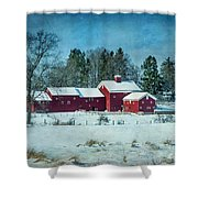 Winter's Colors Shower Curtain