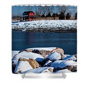 Winters Cove Shower Curtain