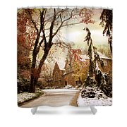 Winter's Entrance Shower Curtain