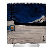 Winter's Eve Shower Curtain