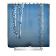 Winter's Fangs Shower Curtain