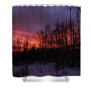 Winter's Fire Shower Curtain