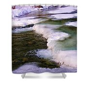 Winters Ice Shower Curtain