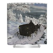 Winters Journey Shower Curtain