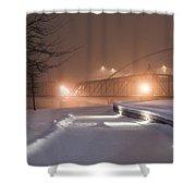 Winter's Night Stroll Shower Curtain