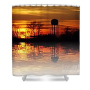 Winter's Reflection Shower Curtain