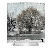 Winter's Storm Shower Curtain