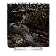 Winters Stream Flow Shower Curtain
