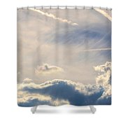 Winter's Streamlined Skies Shower Curtain