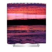 Winter's Sunset Shower Curtain