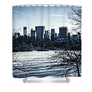 Winter's Touch - Manhattan Shower Curtain