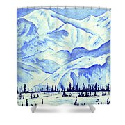 Winter's White Blanket Shower Curtain