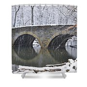 Wintertime At Bells Mill Road Shower Curtain by Bill Cannon