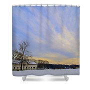 Wintertime At Widener Farms Shower Curtain