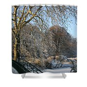 Wintertime  Shower Curtain