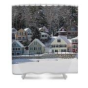 Wintery Alton Bay Nh Shower Curtain