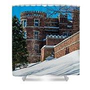 Wintery Lambert Castle Shower Curtain