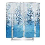 Wintry Mix Shower Curtain by Linda Bailey