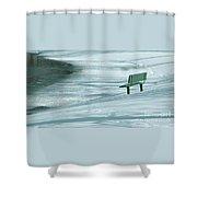 Wintry Riverside Shower Curtain