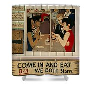 Wintzell's Oyster House Sign - Mobile Alabama Shower Curtain