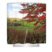 Wire Fenced Field Shower Curtain