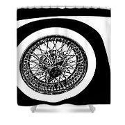Wire Wheel Shower Curtain