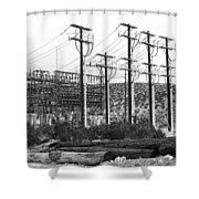 Wired Palm Springs Shower Curtain