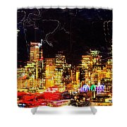 Wired Seattle Shower Curtain